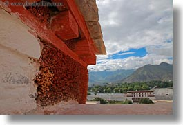 asia, closeup, horizontal, lhasa, potala, tibet, walls, photograph