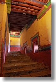 asia, glow, hallway, lhasa, lights, potala, slow exposure, stairs, tibet, vertical, photograph