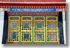 asia, grating, horizontal, lhasa, tibet, windows, yellow, photograph