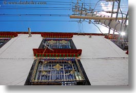asia, horizontal, lhasa, tibet, upview, windows, photograph
