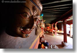 asia, asian, buddhist symbols, horizontal, masks, slow exposure, style, tan druk temple, tibet, photograph