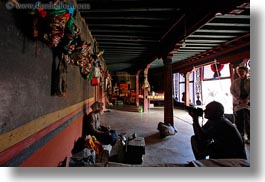 asia, asian, cameras, dark, glow, horizontal, interiors, lights, photographers, rooms, style, tan druk temple, tibet, photograph