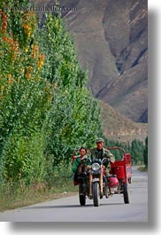 asia, men, motorcycles, tibet, vertical, yarlung valley, photograph