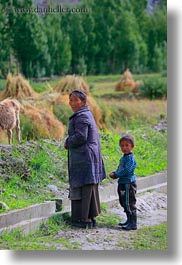 asia, mothers, sons, tibet, vertical, yarlung valley, photograph