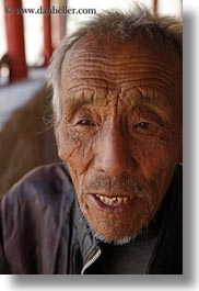 asia, men, old, tibet, vertical, yarlung valley, photograph