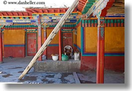 asia, colorful, doors, horizontal, riwodechen monastery, tibet, walls, yarlung valley, photograph