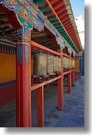 asia, colorful, doors, riwodechen monastery, tibet, vertical, walls, yarlung valley, photograph