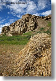 asia, hay, rocks, scenics, stacks, tibet, vertical, yarlung valley, photograph