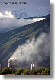asia, clouds, factory, mountains, scenics, tibet, vertical, yarlung valley, photograph