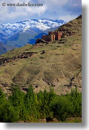 architectural ruins, asia, clouds, mountains, scenics, tibet, vertical, yarlung valley, photograph