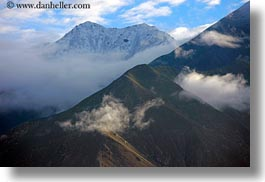 asia, clouds, horizontal, mountains, scenics, tibet, yarlung valley, photograph