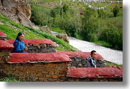 asia, asian, childrens, horizontal, stairs, style, tibet, tsong sten gampo monastery, womens, yarlung valley, photograph