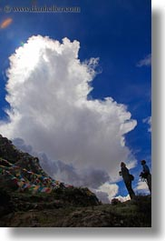 asia, clouds, into, photographers, shooting, tibet, vertical, yumbulagang, photograph