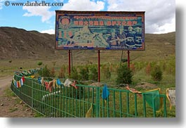 asia, chinese, horizontal, landscapes, old, signs, tibet, yumbulagang, photograph