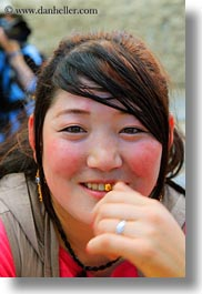 asia, asian, emotions, girls, people, smiles, tibet, tibetan, vertical, yumbulagang, photograph