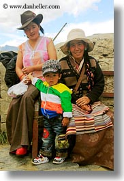 asia, asian, boys, emotions, grandmother, mothers, people, smiles, tibet, tibetan, toddlers, vertical, yumbulagang, photograph
