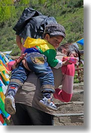 asia, asian, backs, boys, mothers, people, tibet, toddlers, vertical, yumbulagang, photograph