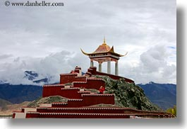 asia, asian, horizontal, kate, roadside temple, stairs, style, taking, tibet, yumbulagang, photograph