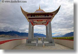 asia, asian, horizontal, roadside temple, style, temples, tibet, yumbulagang, photograph