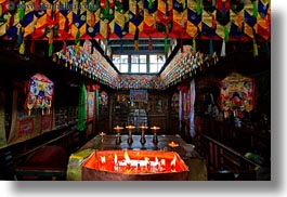 asia, candles, horizontal, inside, slow exposure, temples, tibet, yumbulagang, yumbulagang temple, photograph