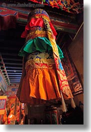 asia, colorful, fabrics, slow exposure, tibet, vertical, yumbulagang, yumbulagang temple, photograph