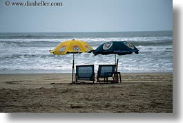asia, beaches, chairs, danang, horizontal, umbrellas, vietnam, photograph