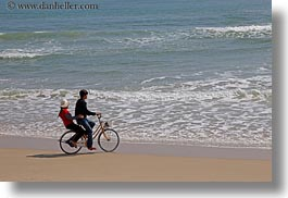asia, beaches, bicycles, boys, danang, girls, horizontal, vietnam, photograph