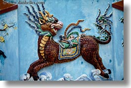 artwork, asia, danang, dragons, horizontal, vietnam, photograph