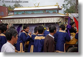asia, emotions, funeral, horizontal, laugh, procession, vietnam, photograph