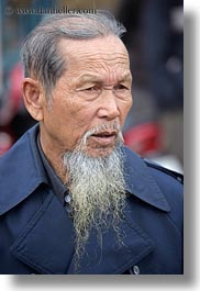 asia, beards, emotions, funeral, long, men, old, serious, vertical, vietnam, white, photograph