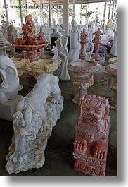 asia, ha long bay, marble, statues, vertical, vietnam, photograph