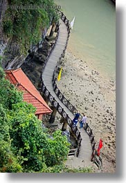 asia, downview, ha long bay, people, perspective, shapes, vertical, vietnam, walkway, photograph