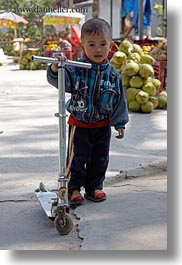 asia, asian, ha long bay, people, scooter, toddlers, vertical, vietnam, photograph