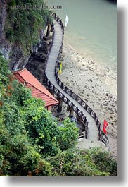 asia, curved, ha long bay, scenics, vertical, vietnam, walkway, photograph