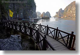 asia, curved, ha long bay, horizontal, mountains, nature, scenics, vietnam, walkway, photograph