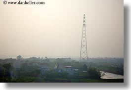 asia, ha long bay, horizontal, houses, scenics, telephones, towers, vietnam, wires, photograph