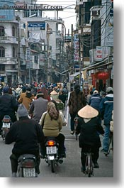 asia, bikes, crowded, crowds, hanoi, streets, vertical, vietnam, photograph