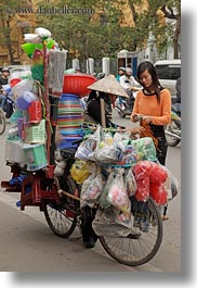 asia, bicycles, bikes, hanoi, junk, lots, stuff, vertical, vietnam, photograph