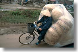 asia, baskets, bicycles, bikes, hanoi, horizontal, stuff, vietnam, wicker, photograph