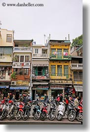 asia, buildings, hanoi, motorcycles, vertical, vietnam, photograph