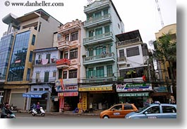 asia, buildings, colorful, hanoi, horizontal, stacked, vietnam, photograph