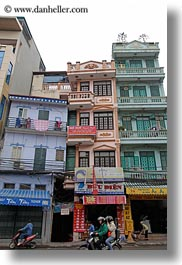 asia, buildings, colorful, hanoi, stacked, vertical, vietnam, photograph