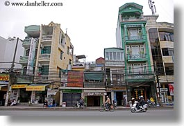 asia, buildings, hanoi, horizontal, narrow, tall, vietnam, photograph