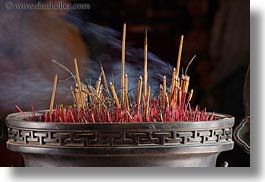asia, burning, confucian temple literature, hanoi, horizontal, incense, smoke, vietnam, photograph