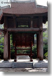 asia, confucian temple literature, drums, hanoi, pagoda, under, vertical, vietnam, photograph