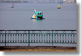 asia, boats, hanoi, horizontal, lakes, pedals, swans, vietnam, photograph