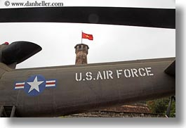 air, american, asia, flags, force, hanoi, horizontal, military history museum, planes, vietnam, vietnamese, photograph