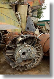 asia, engines, hanoi, military history museum, parts, vertical, vietnam, photograph