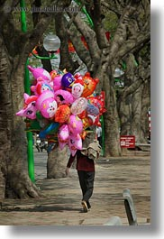 asia, balloons, colorful, hanoi, vertical, vietnam, womens, photograph
