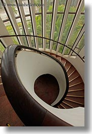 asia, hanoi, museums, spiral, stairs, vertical, vietnam, photograph